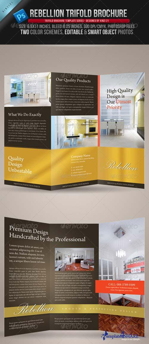 GraphicRiver Rebellion Trifold Brochure - PSD Template
