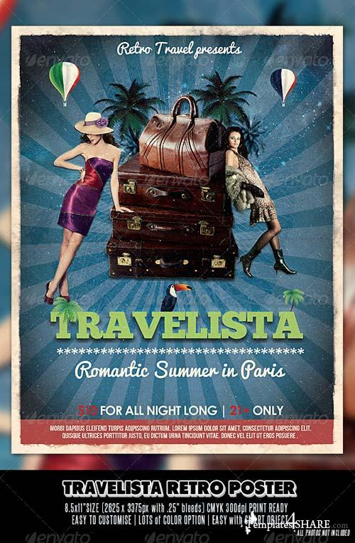 GraphicRiver Travelista Retro Poster
