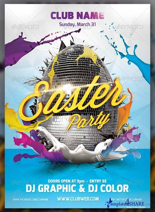 GraphicRiver Easter Party Flayer Template