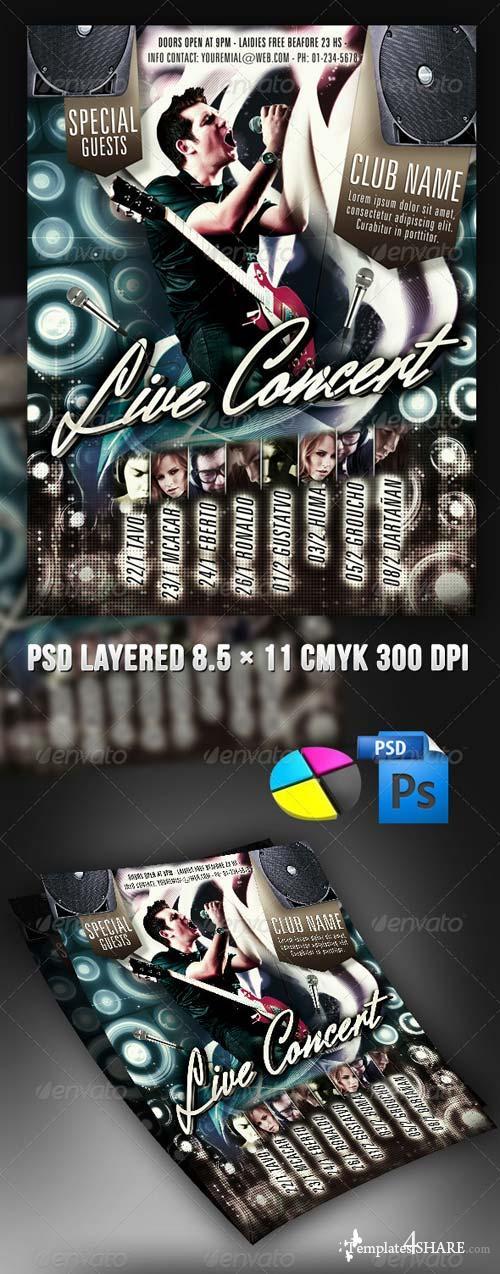 GraphicRiver Live Concert Flyer 4079766