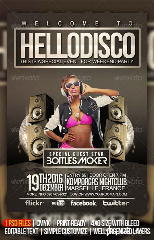 GraphicRiver Hello Disco Party Flyer