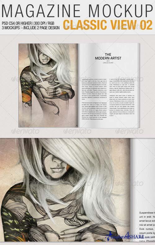 GraphicRiver Magazine Mockup Classic View 02