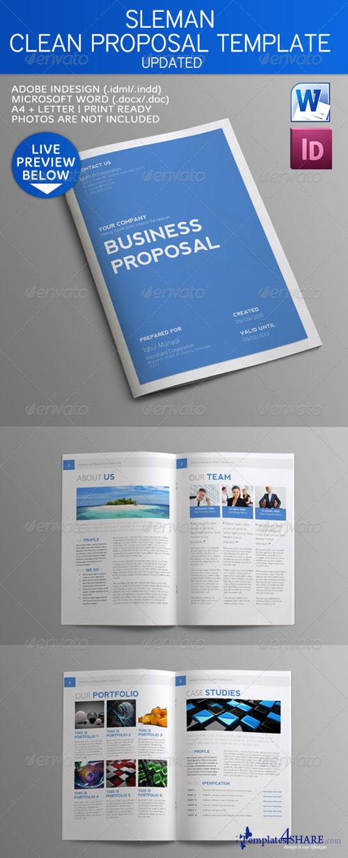 GraphicRiver Sleman Clean Proposal Template