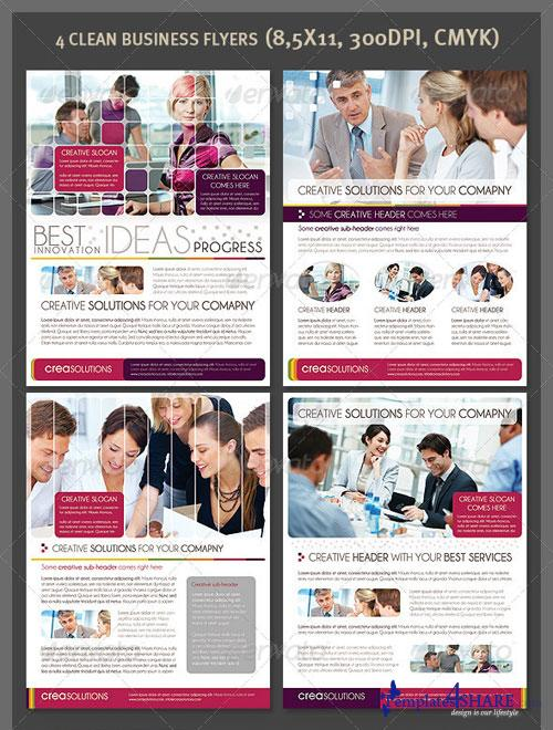 GraphicRiver 4 Clean Business Flyers
