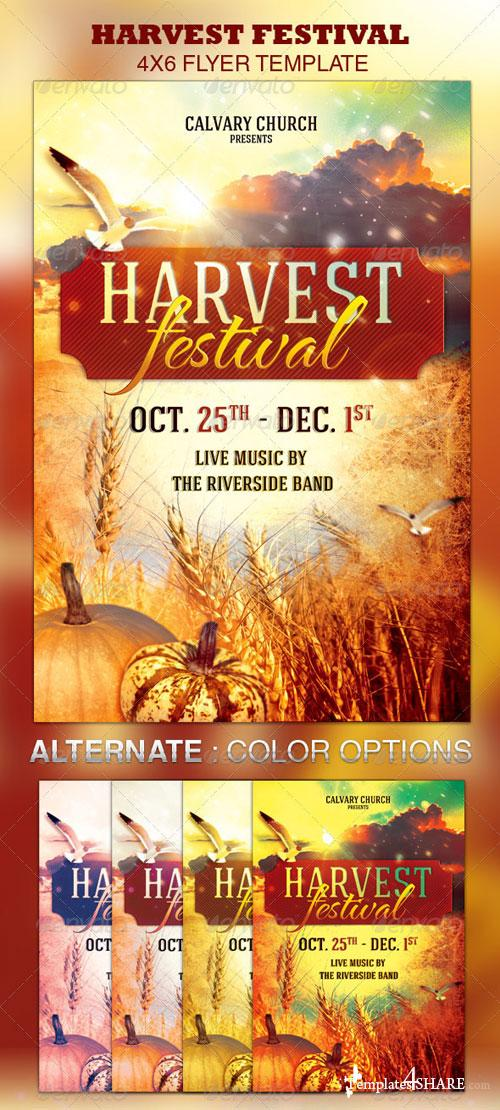 GraphicRiver Harvest Festival Church Flyer Template