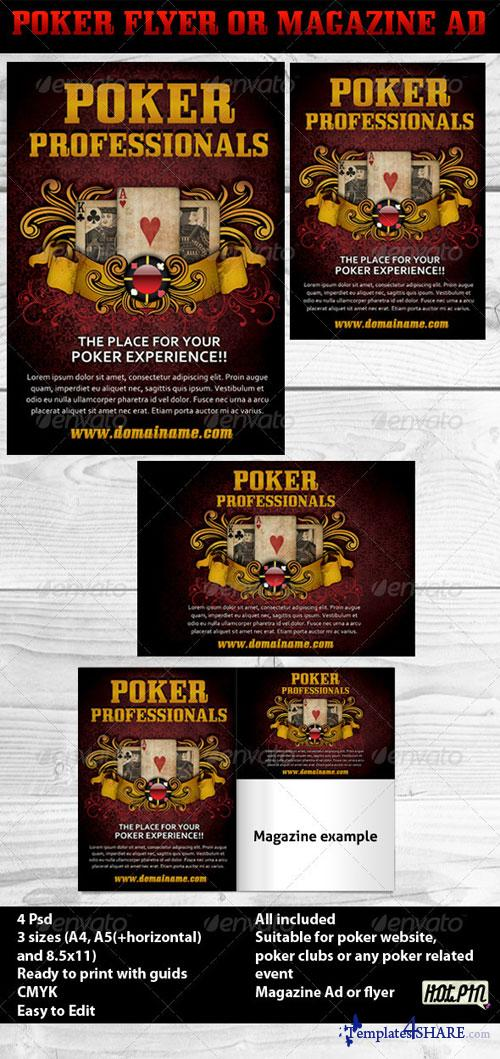 GraphicRiver Poker Magazine Ads or flyers 3