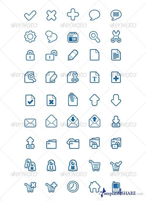 GraphicRiver BlueSakura 45 Icon for your project