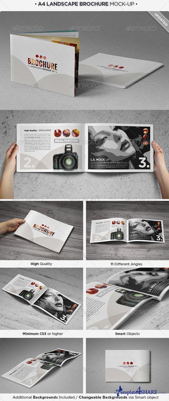 GraphicRiver Landscape Brochure Mock-Up Set