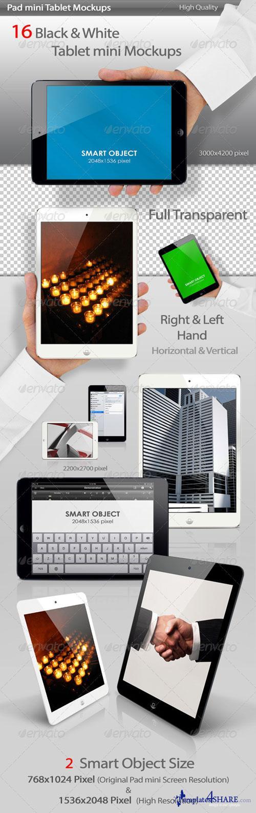 GraphicRiver Pad mini Tablet Mockups