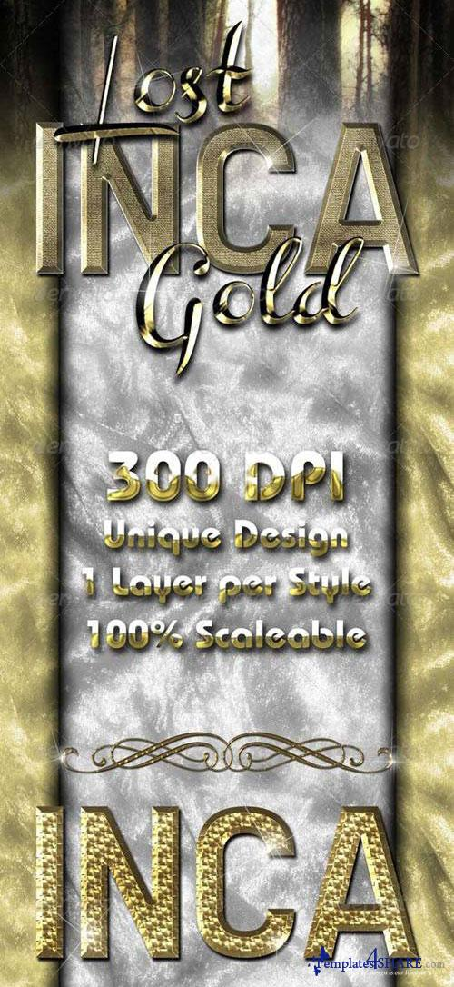 GraphicRiver Lost Inca Gold - Premium Layer Styles