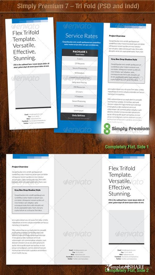 GraphicRiver Simply Premium 7 - Tri Fold (PSD and Indd)