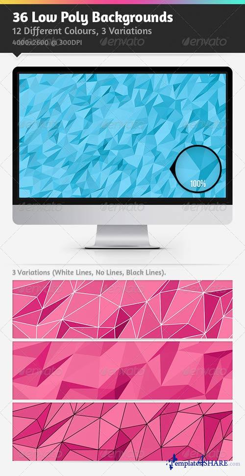 GraphicRiver 36 Low Poly Backgrounds