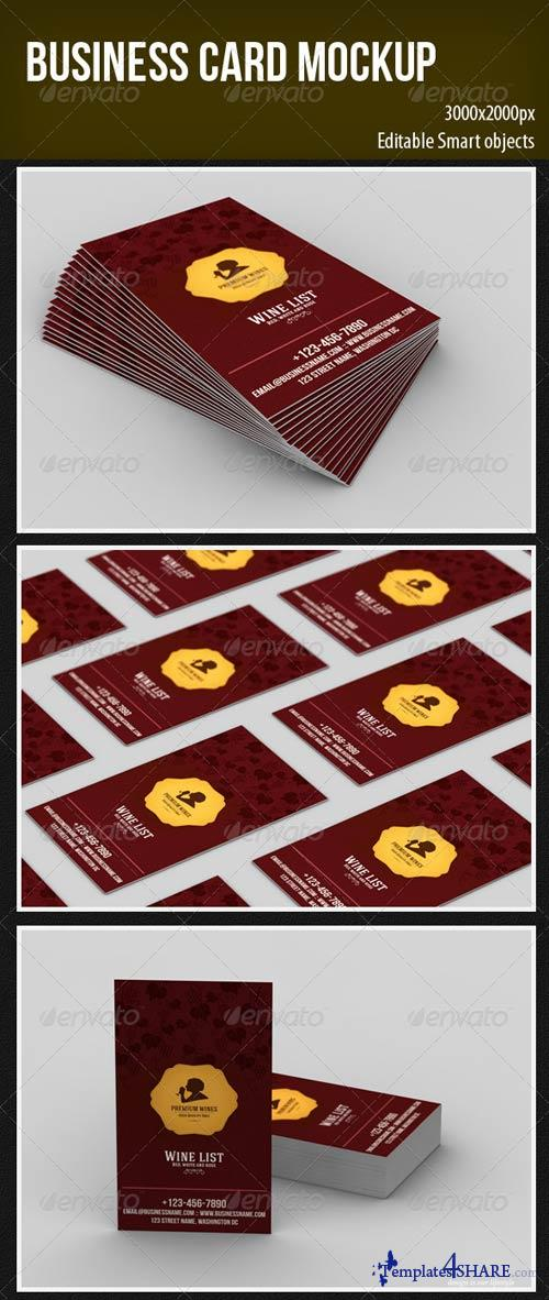 GraphicRiver Business Card Mockup 4229598
