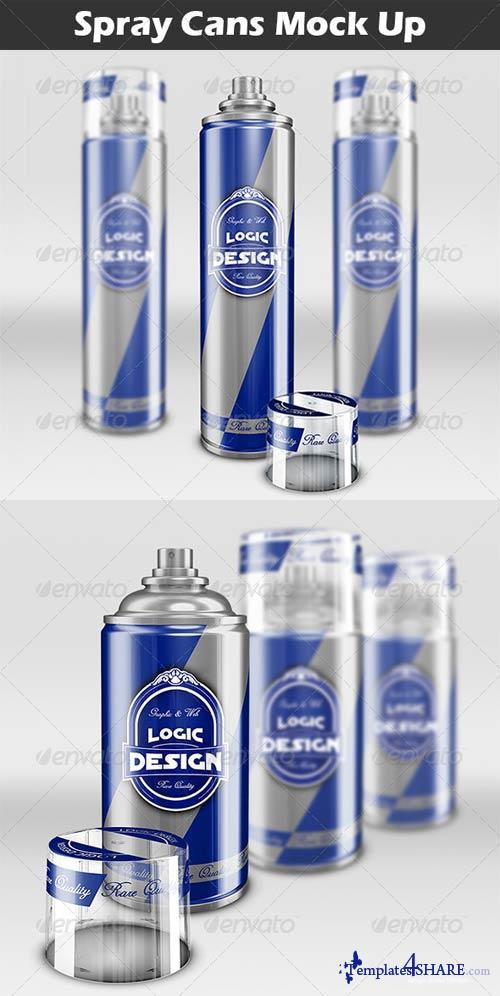 GraphicRiver Spray Cans Mock Up