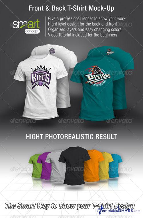GraphicRiver Front and Back T-Shirt Mock-up