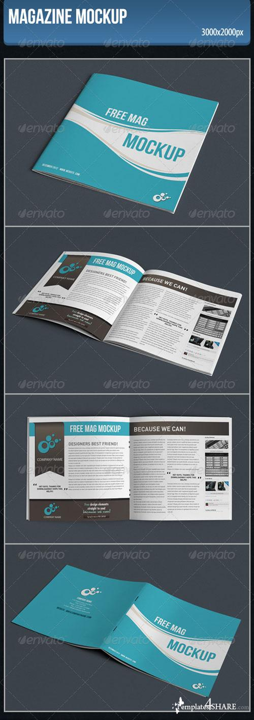 GraphicRiver Magazine Mockup 4389364