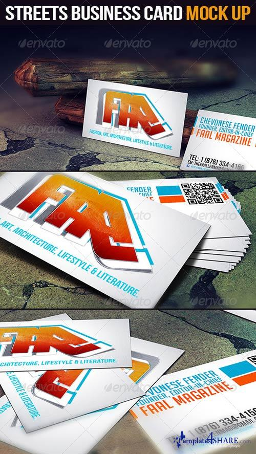 GraphicRiver Streets Business Card Mock Up
