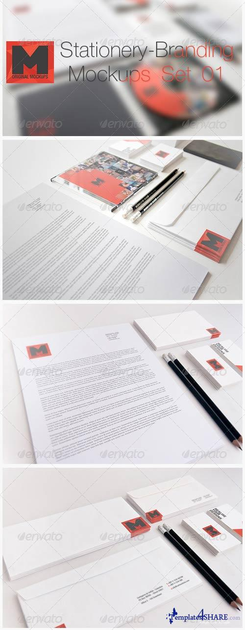 GraphicRiver Stationery - Branding Mockups - Set 01