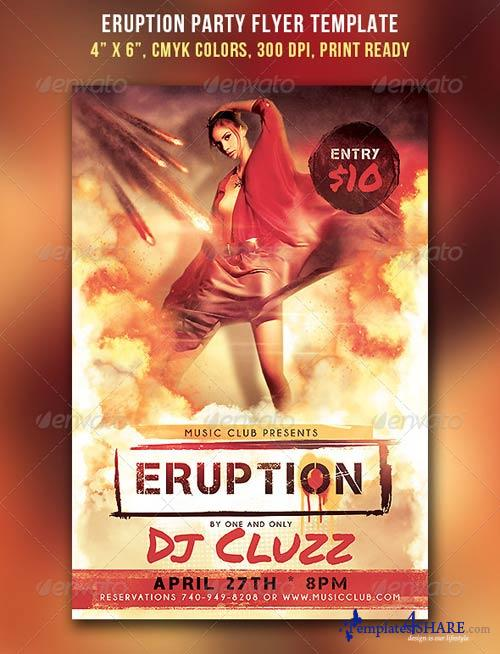 GraphicRiver Eruption Party Flyer