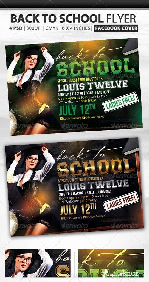 GraphicRiver Back to School | Flyer + Fb Cover