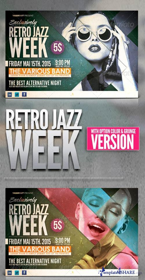 GraphicRiver Retro Jazz Week Flyer Template