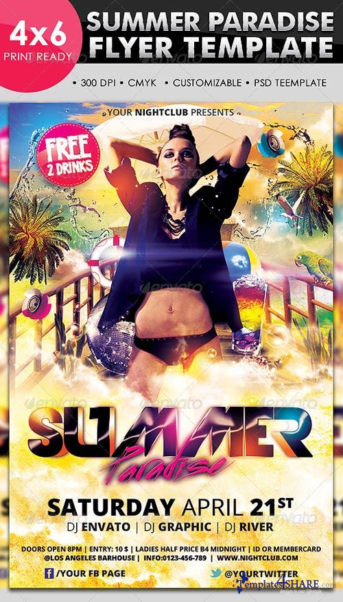 GraphicRiver Summer Paradise Flyer Template