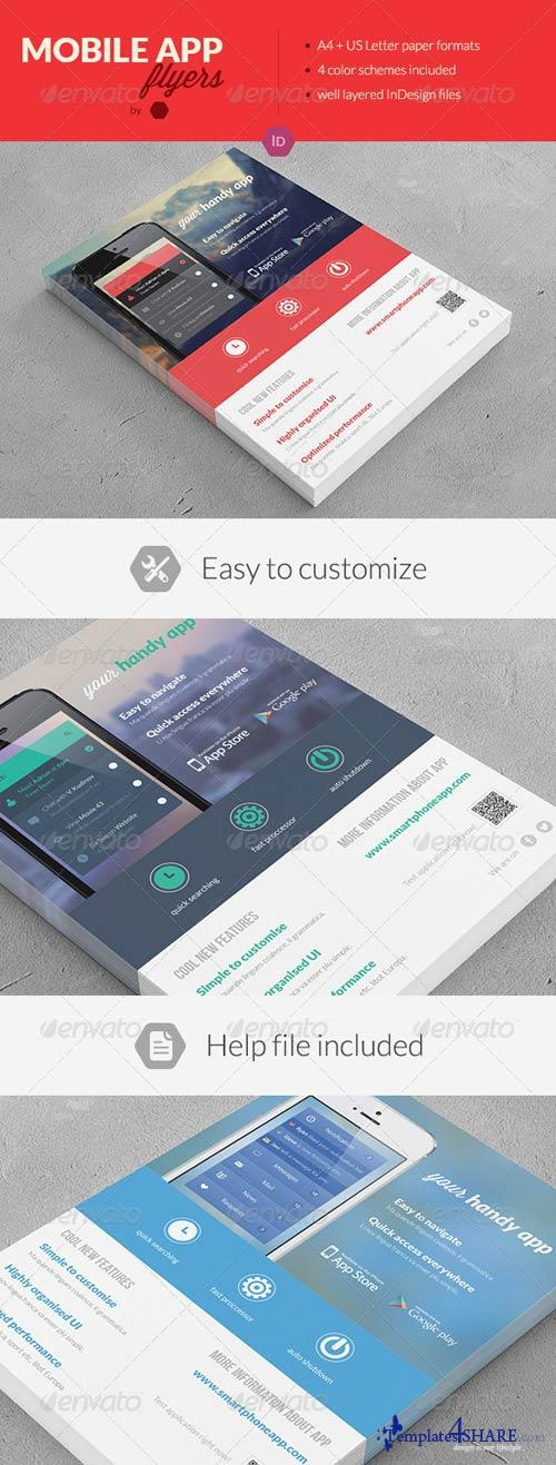 GraphicRiver Mobile Application Promotion Flyers / Phone App