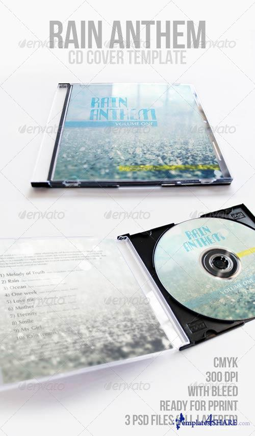 GraphicRiver Rain Anthem CD Cover Template