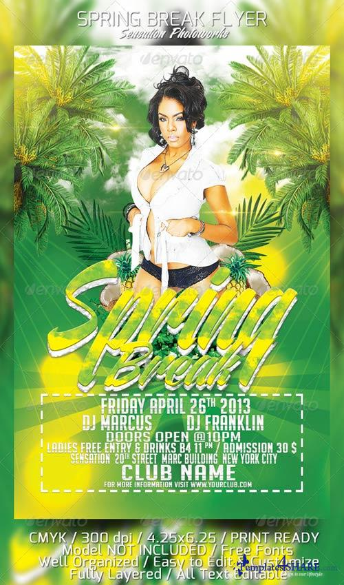 GraphicRiver Spring Break Party Flyer Template
