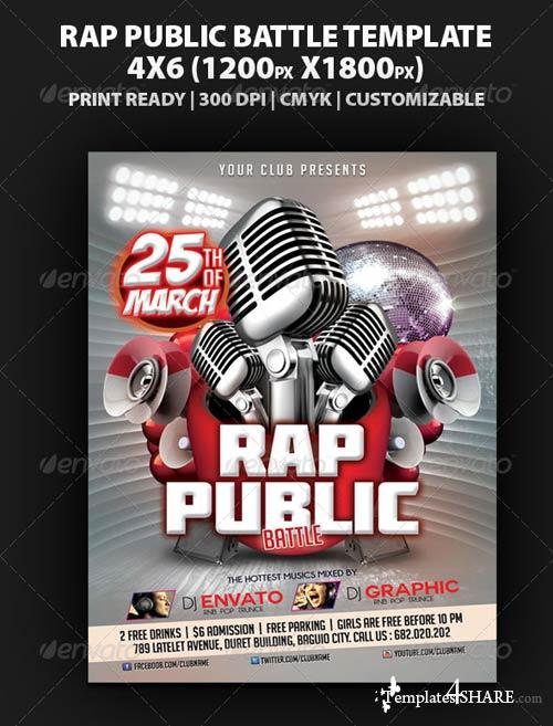 GraphicRiver Rap Battle Public Flyer Template