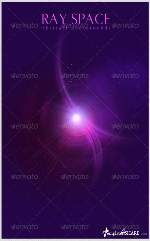 GraphicRiver Ray Space Abstract Backgrounds