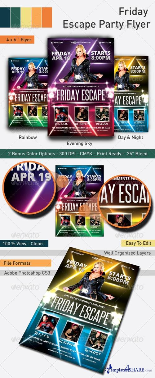 GraphicRiver Friday Escape Party Flyer