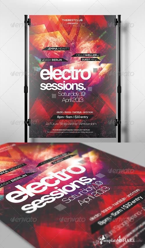 GraphicRiver Electro Sessions Flyer Template