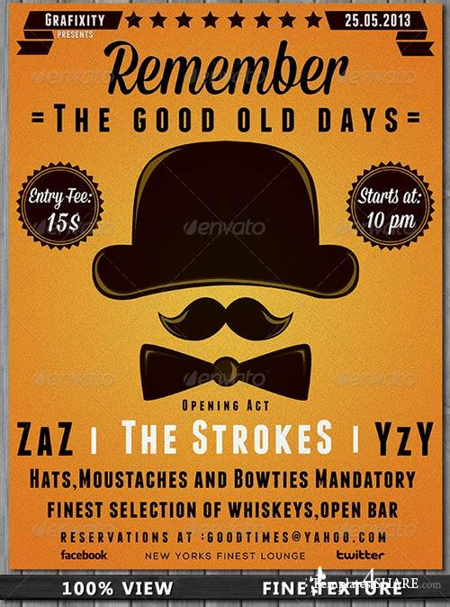 GraphicRiver The Good Days Vintage-Retro Poster