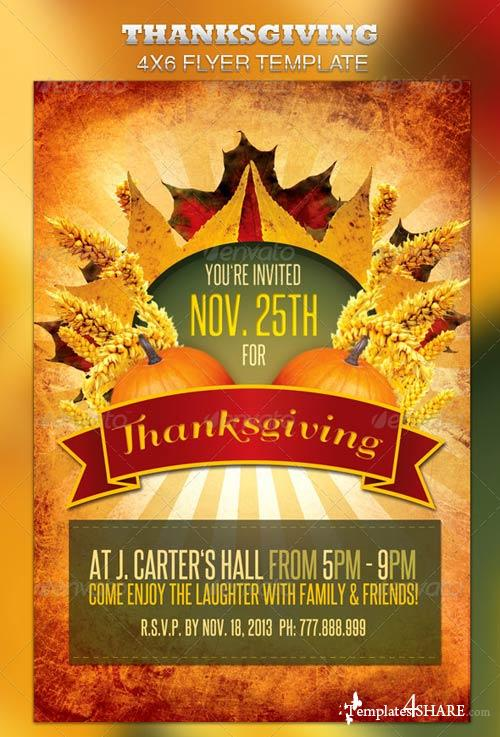 GraphicRiver Thanksgiving Flyer