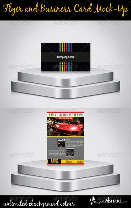 GraphicRiver Flyer And Business Card Mock-Up