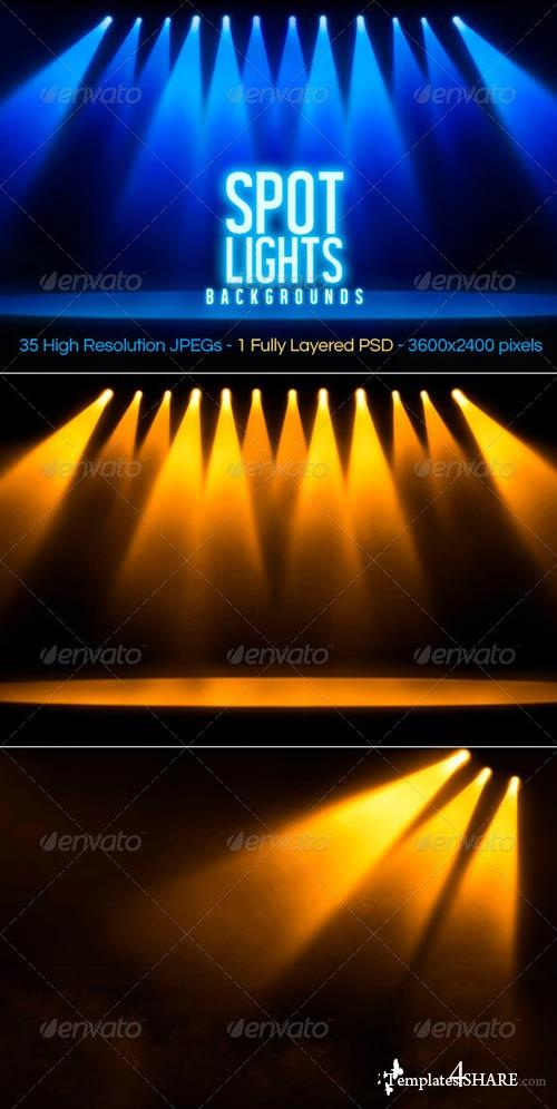 GraphicRiver Spotlights Backgrounds