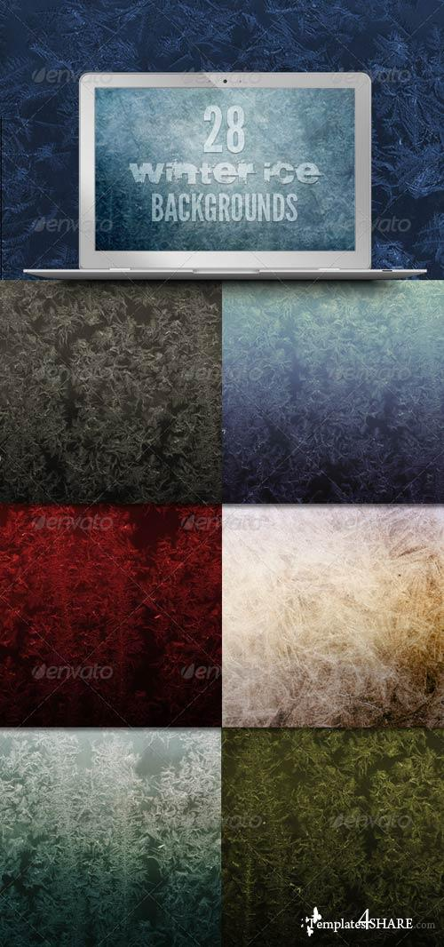 GraphicRiver 28 Winter Ice Backgrounds