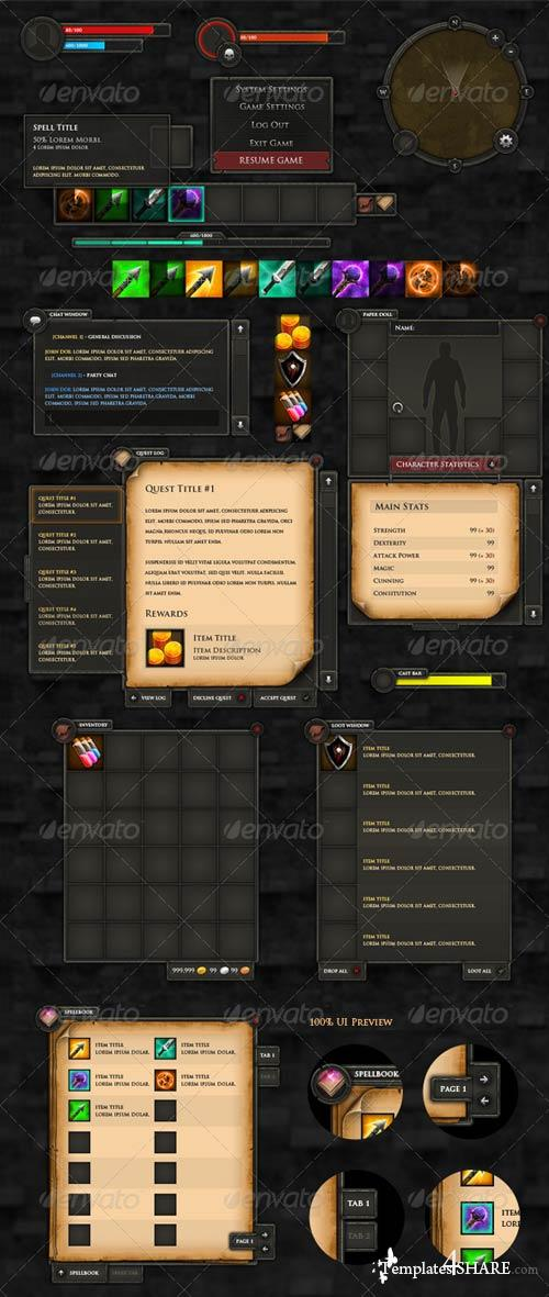 GraphicRiver RPG User Interface