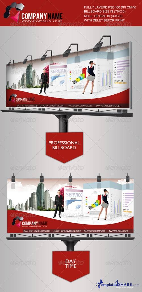 GraphicRiver Business Information Billboard Template
