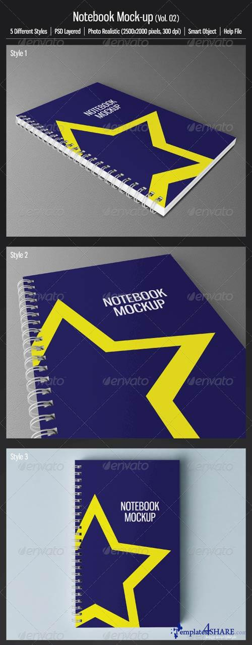 GraphicRiver Notebook Mock-up (Vol.02)