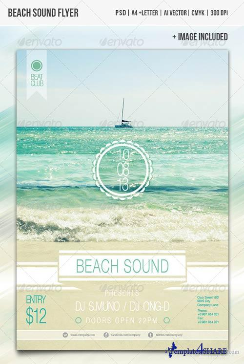 GraphicRiver Beach Sound Flyer