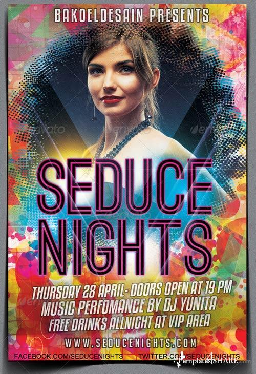 GraphicRiver Seduce Nights Party Flyer