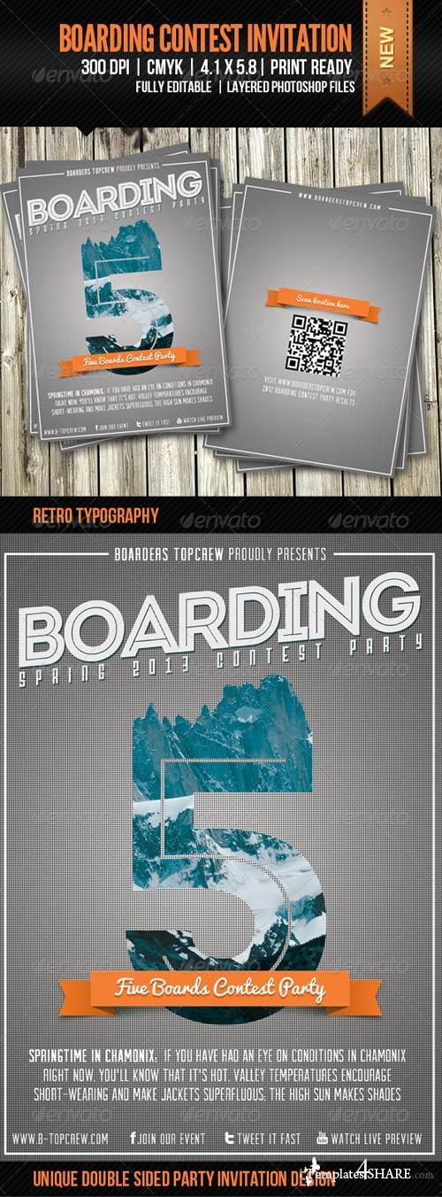 GraphicRiver Five Boards Contest Invitation