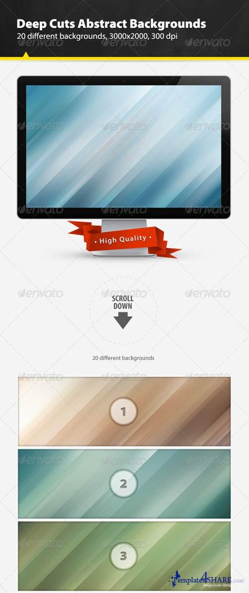 GraphicRiver Deep Cuts Abstract Backgrounds