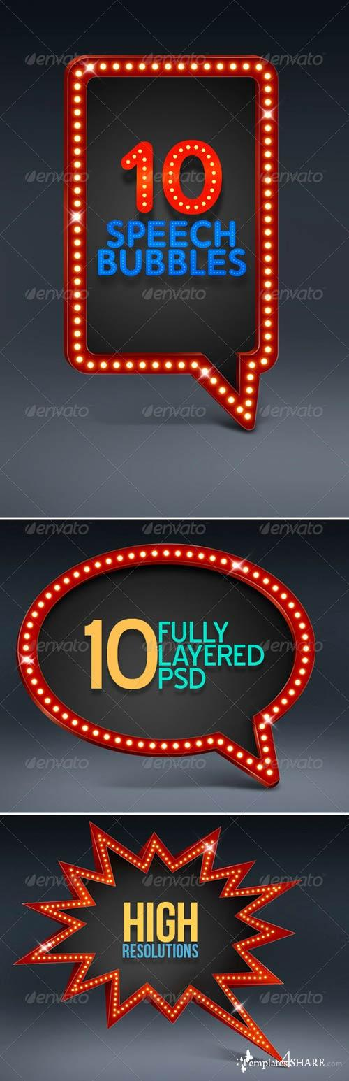 GraphicRiver 10 Speech Bubbles