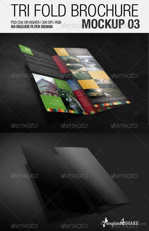 GraphicRiver Tri Fold Brochure Mockup 03