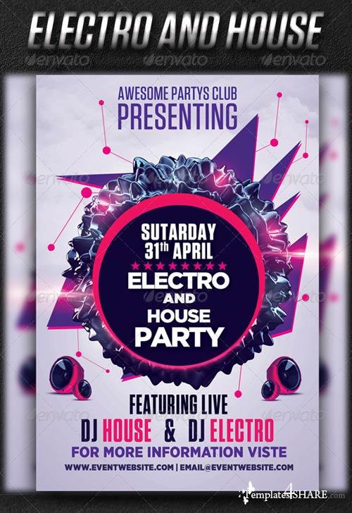 GraphicRiver Electro And House Party Vol2