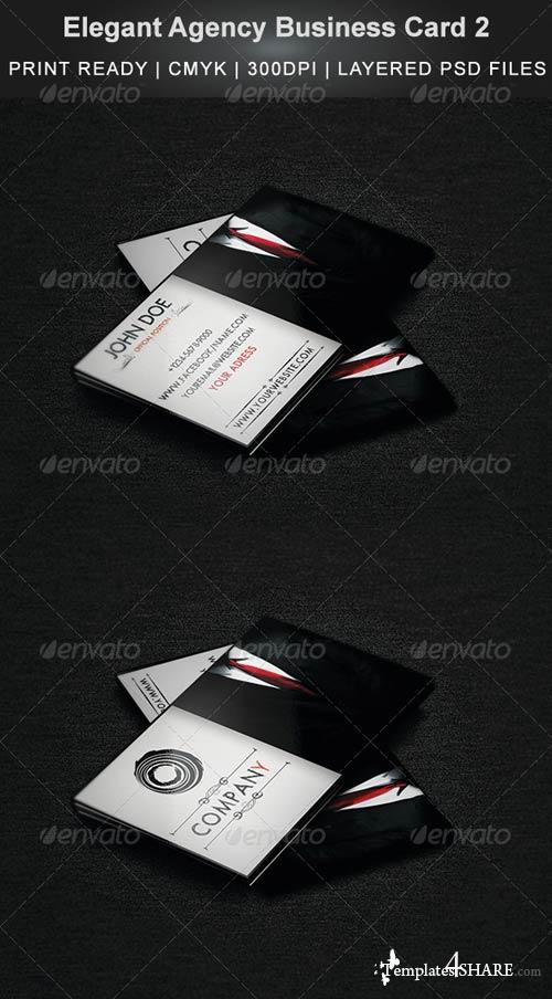 GraphicRiver Elegant Agency Business Card 2