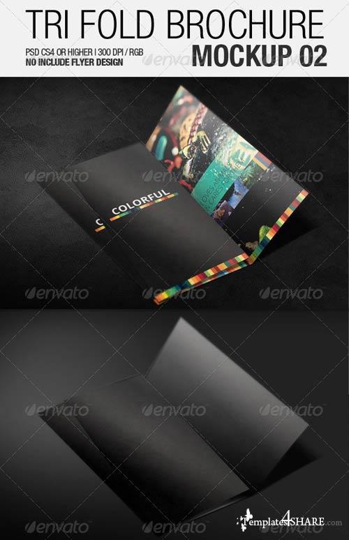 GraphicRiver Tri Fold Brochure Mockup 02